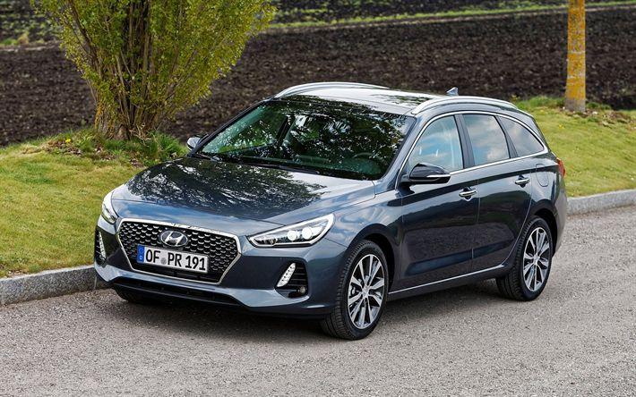 Scarica sfondi Hyundai i30 Tourer, 2018, la Nuova i30, station wagon, automobili della corea, Hyundai