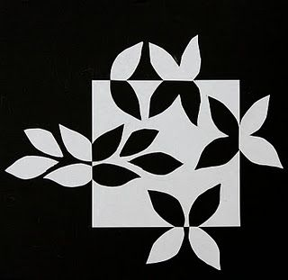 Quilt Inspiration: Notan Snowflake Expansion of the square