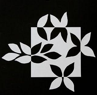 Quilt Inspiration: Notan Snowflake
