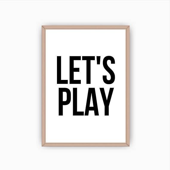Let/'s Play Wall Quote