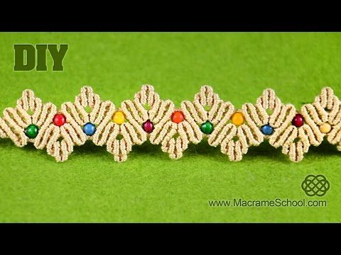 ZigZag Macrame Petal Bracelet Tutorial - YouTube