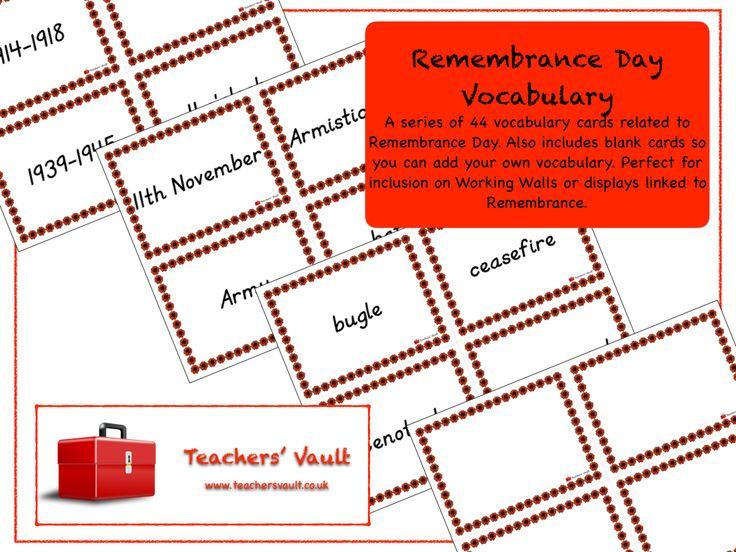 Remembrance Day Vocabulary - KS1, KS2, KS3 Citizenship and British Values Teaching Resources and Displays