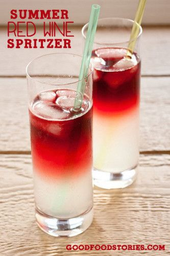 summer red wine spritzer, via goodfoodstories.com