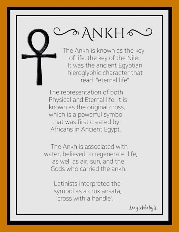 Ankh symbolism                                                                                                                                                                                 More