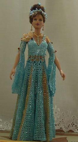 Beaded dresses for Barbie!