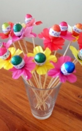 Easter Egg Flowers... ♥ I think some of these might just pop up in our garden for the Easter Sunday Egg Hung.... how cute!