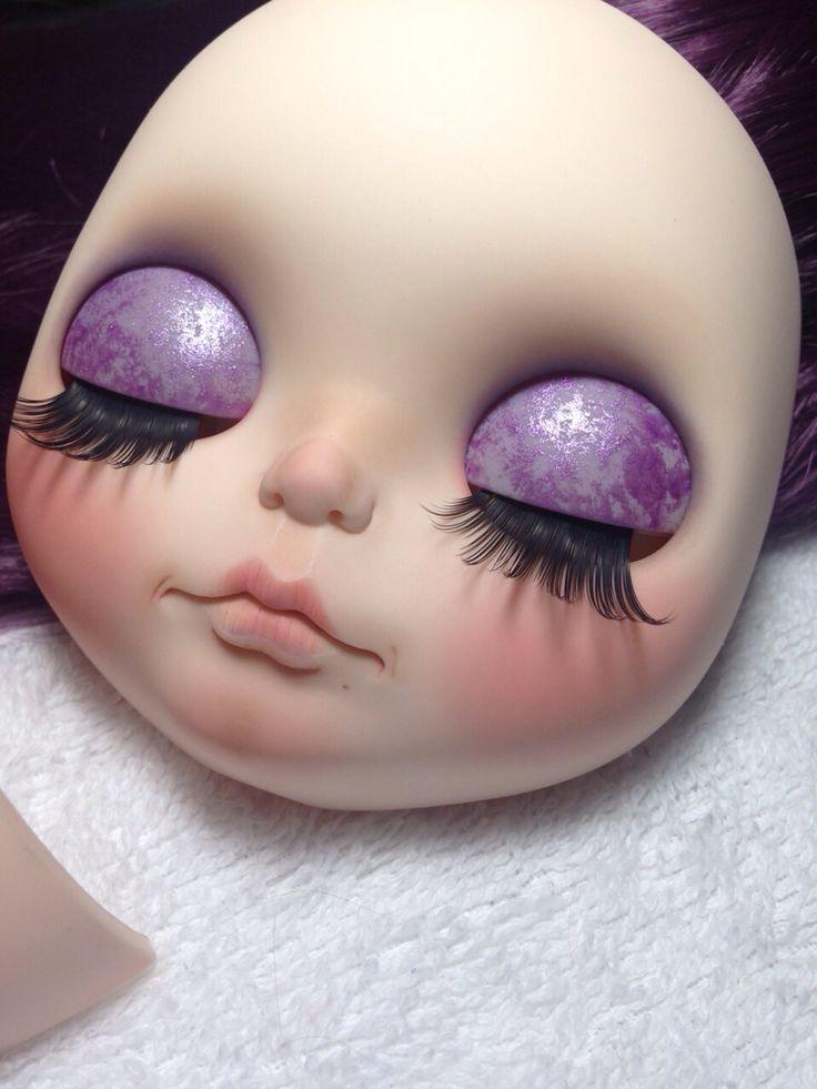 Sombra pintura glitter roxo