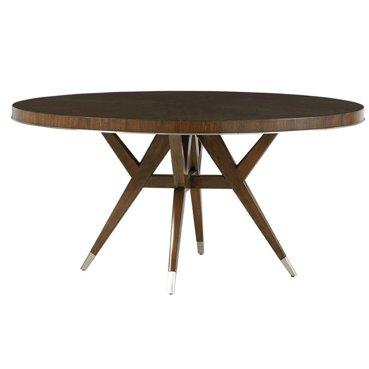 """Lexington MacArthur Park Strathmore 60"""" Round Dining Table in Brown - 01-0729-875c"""