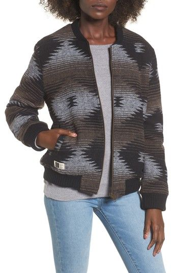 Free shipping and returns on Lira Clothing Benson Reversible Bomber at Nordstrom.com. A woven blanket-print bomber reverses to a brushed, quilted finish for a cozy look that suits a wide range of 'fits.