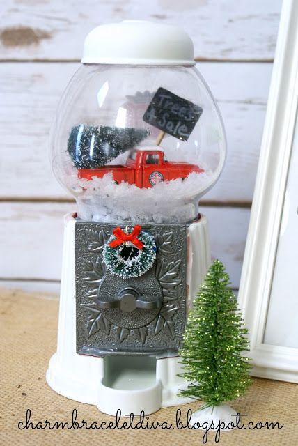 DIY Gumball Machine Waterless Snow Globes!