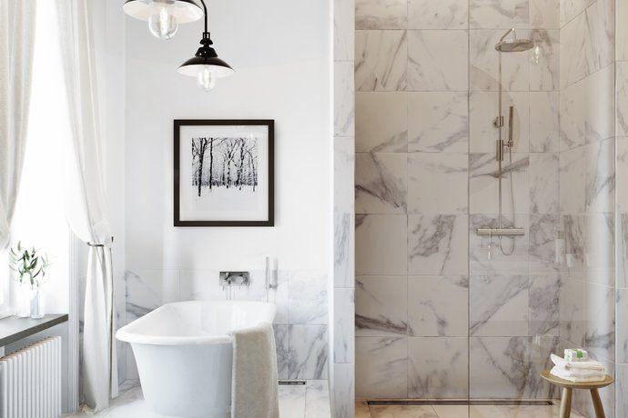 Exklusivt badrum på Karlavägen, Östermalm