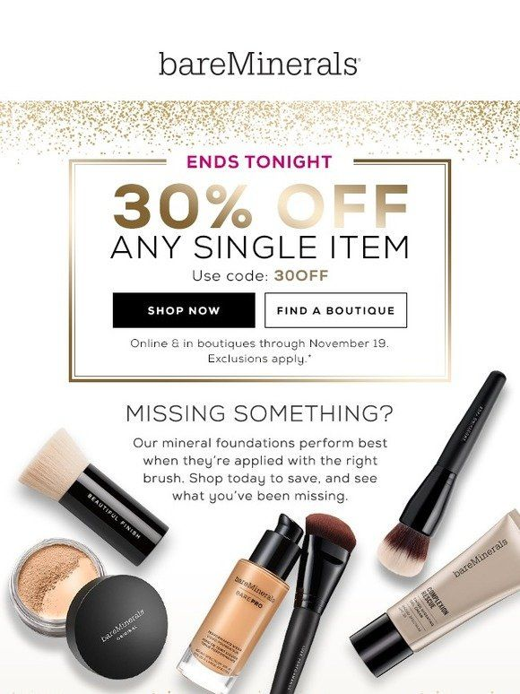 Get 30 Off For A Few More Hours Bareminerals Bareminerals Mineral Foundation How To Apply