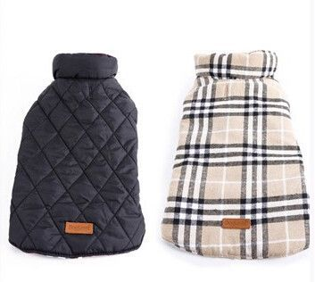 Type: Dogs Brand Name: Dogs Jackets Material: Polyester Season: Winter Pattern: Plaid Type: Dogs Color: beige,red,greenbrown Size: XS,S,M,L,XL,XXL,XXXL Gender: unisex Origion: Guangdong, China Custom