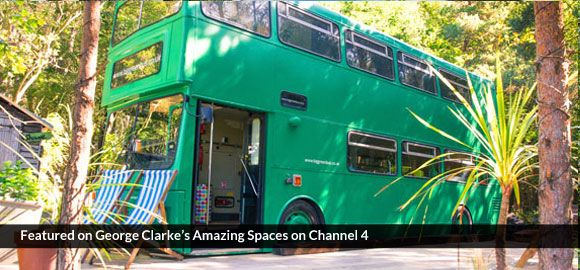 A big, green bus for up to 6 - as seen on George Clarke's Amazing Spaces!