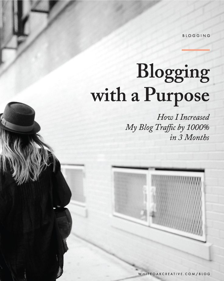 How Identifying my purpose and ideal audience, I created more purposeful blog posts that engaged readers and saw a significant increase of traffic to my site (with a small social media following).