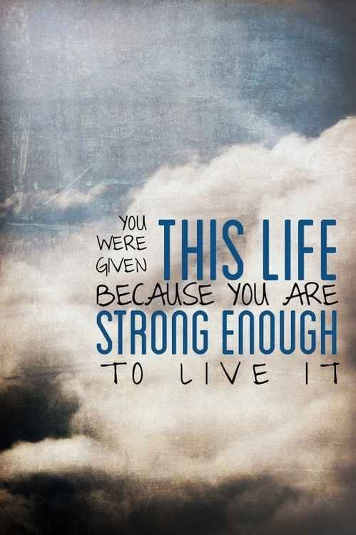 Kind of goes with Philippians 4:13 - I can do all things through Christ who gives me strength. : )