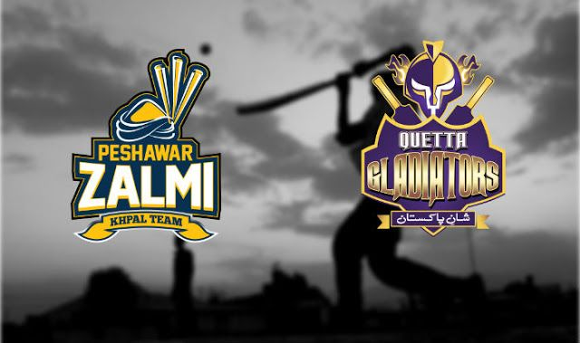 QUETTA GLADIATORS VS PESHAWAR ZALMI LIVE SCORE, LIVE COVERAGE - PSL 2017