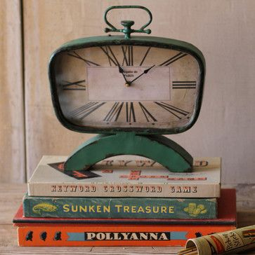 Mid Century Desk Clock - industrial - clocks - other metro - A Cottage in the City