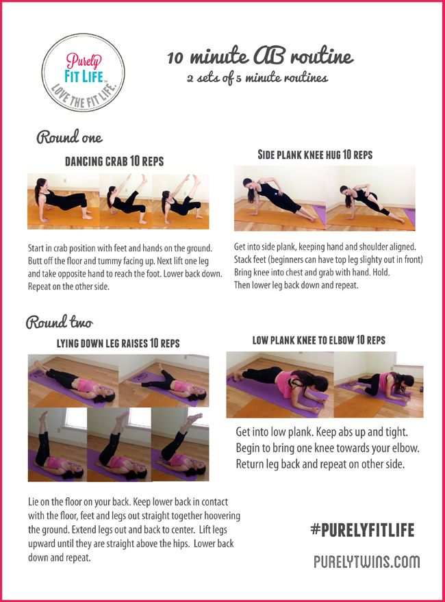 Real Time 10 Minute #ab #workout #purelyfitlife Via @purelytwins