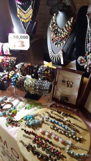 Monili accessories display at Pop Up Garage 2015, 14 Feb
