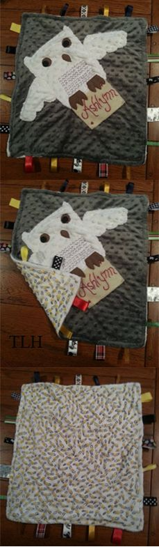 Harry Potter taggie blanket - Handmade Christmas gift for my daughter.  She's going to LOVE it! -TLH