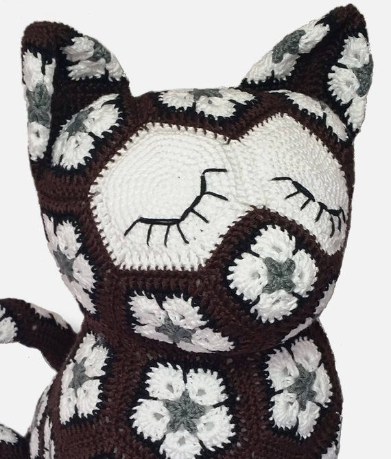 CROCHET PATTER - African Flower Crochet Cat | muñecos | Pinterest ...