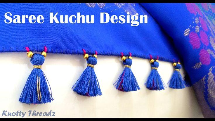 How to make Saree Kuchu / Tassels Design using Silk Thread - Beaded Desi...