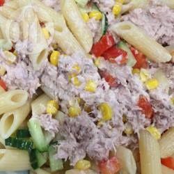 Pastasalade met tonijn-mayonaise @ allrecipes.nl