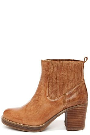MTNG 93522 Bree Rustico Tan Leather Ankle Boots at Lulus.com!