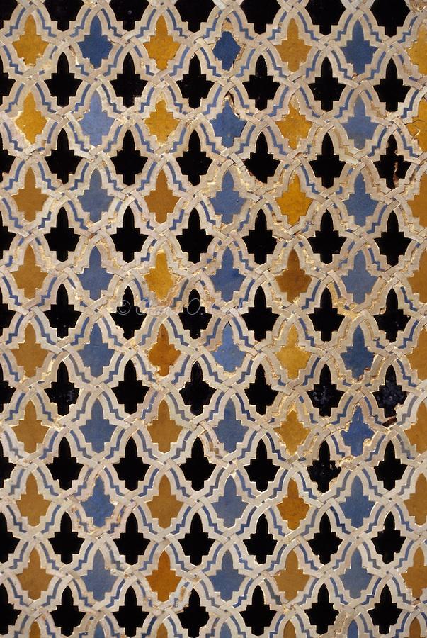 Fez morocco bou inania medersa tile work 14th century for Fez tiles