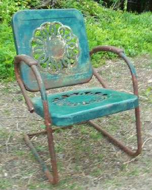 Vintage Metal Chairs And Retro Patio Tables   Vintage Gliders171 best Metal Lawn Chairs images on Pinterest   Vintage metal  . Antique Motel Chairs. Home Design Ideas