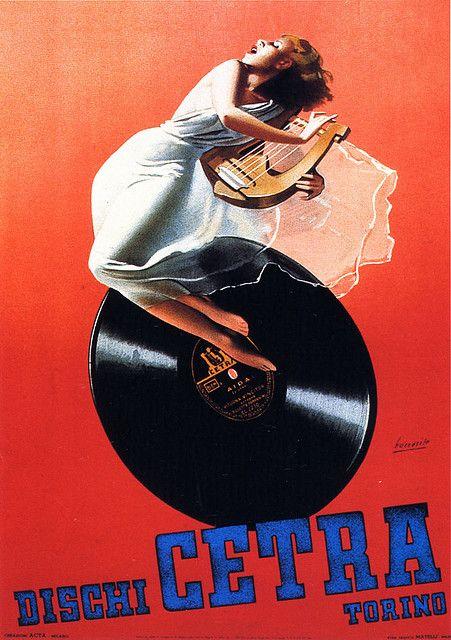 "Gino Boccasile, ""Dischi Cetra"", 1940"