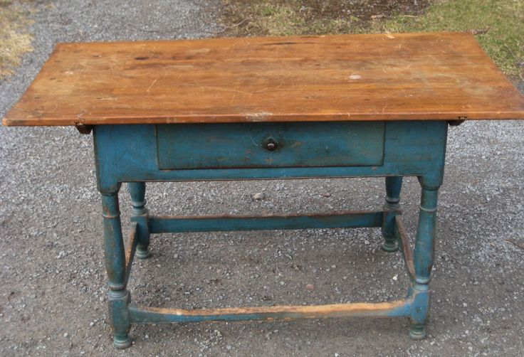 Tavern Table with a blue painted base. Nice piece. Just ...