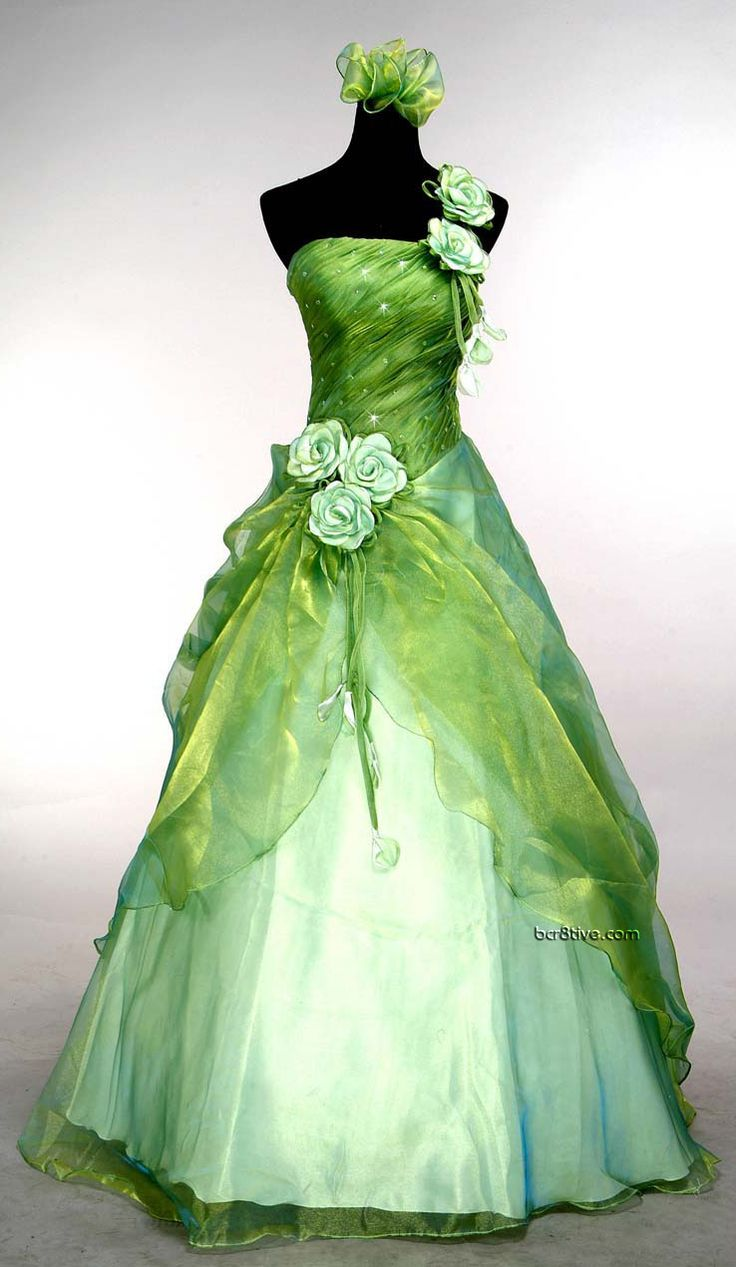 The dress for sale - Green Wedding Gown Found This In Several Places But Available For Sale From Http