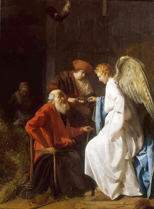 "missfolly: 'Tobias and the Angel: The healing of Tobit's blindness"" by Simon Henrixz, 1630 (I love the Book of Tobit)"