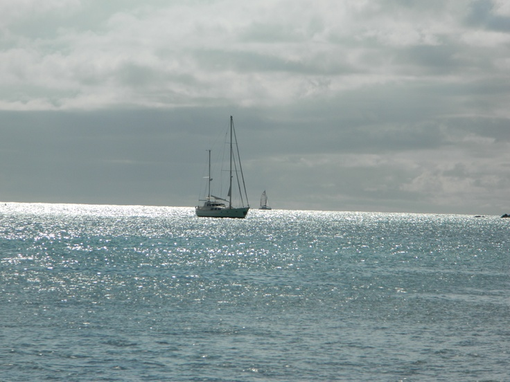Off the coast of St. Maarten