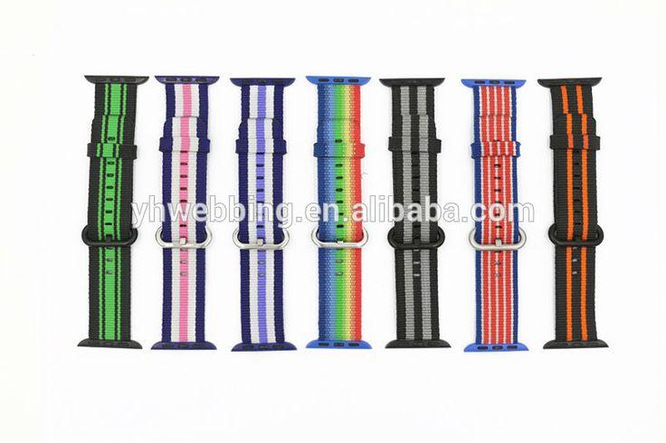 YH60 Woven Nylon strap For apple watch band 42 mm/38 Sport wrist braclet Fabric-feel metal bucket belt for iwatch 2/1