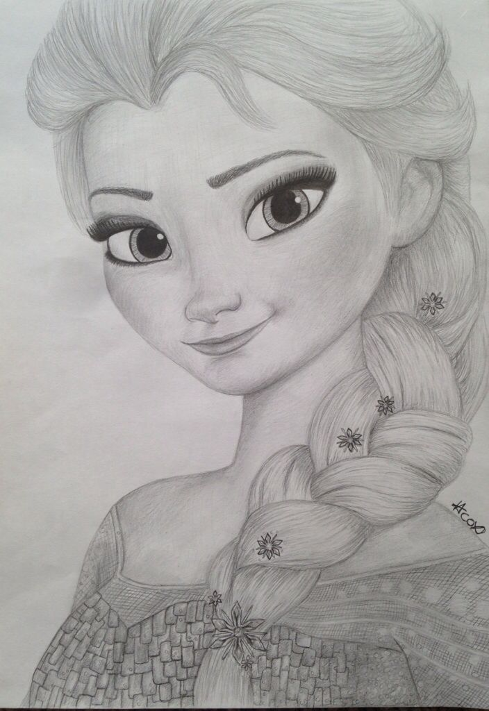 My queen elsa drawing from frozen | Drawings and art ...