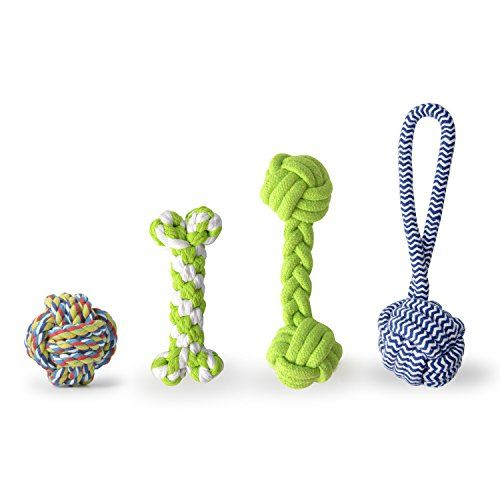 Dog Rope Toys - OHPA Puppy Toys Rope Chew Teeth Cleaning Toys For Small DogsPuppy Teething Rope Toys 4 Pcs Puppy Teething Toys Set Random Color -- Click image for more details. (This is an Amazon affiliate link)