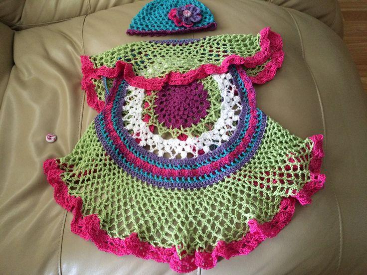 Love this crochet mandala vest I made for my grand-daughter!