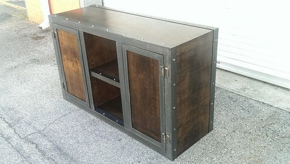 modern style industrial media console/cabinet by by IndustEvo