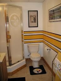 Steeler's Bathroom for the Man Cave