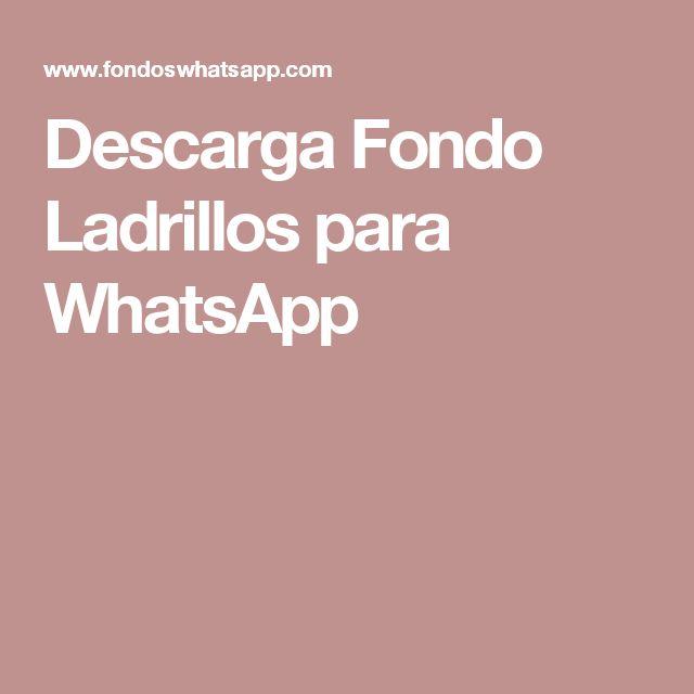 Descarga Fondo Ladrillos para WhatsApp