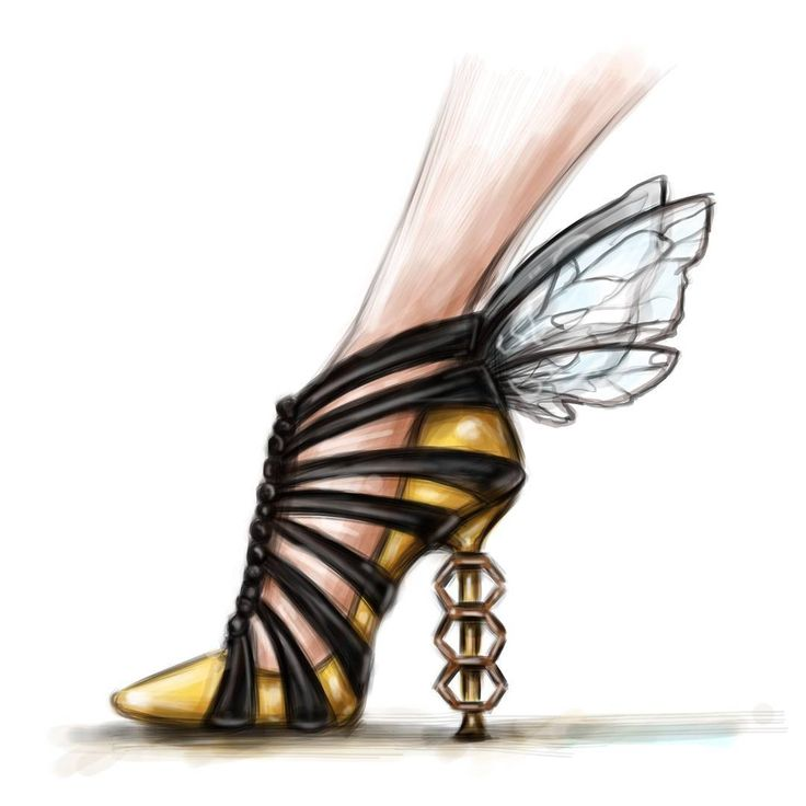 """ Heels"" Watch the steps of this illustration on my story"