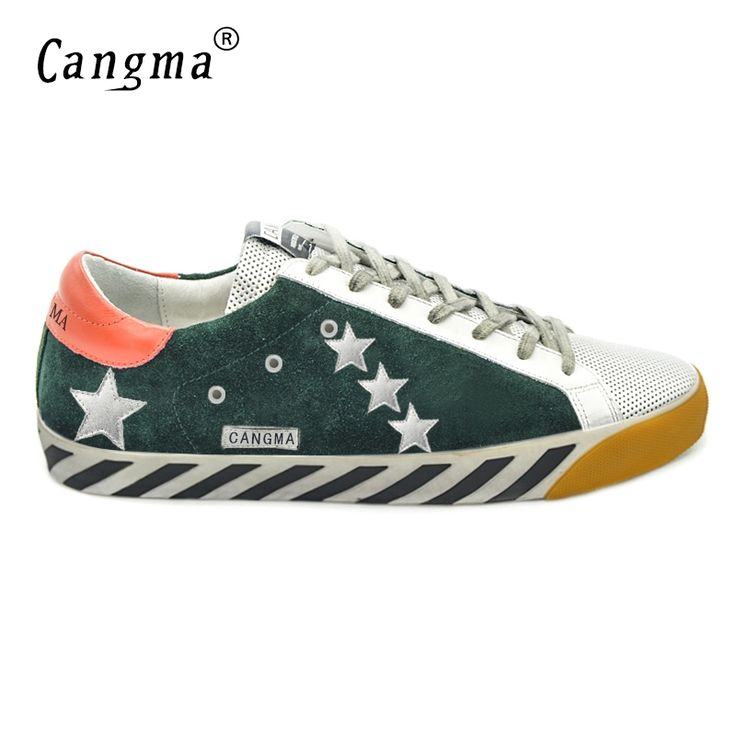69.99$  Watch here - http://aidsa.worlditems.win/all/product.php?id=32802546902 - CANGMA Designer Luxury Brand Men Shoes Genuine Leather Original Superstar Male Casual Green Breathable Shoes Herenschoenen 2017