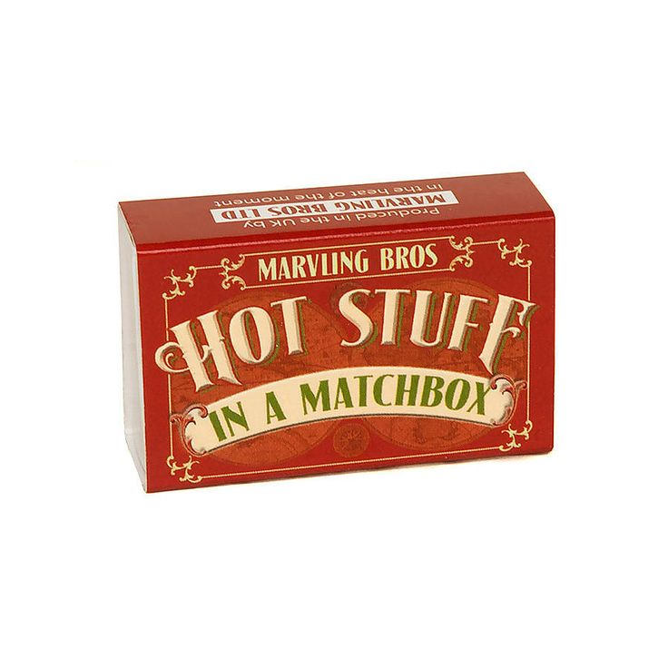 World's Hottest Chilli Powders In A Matchbox from notonthehighstreet.com