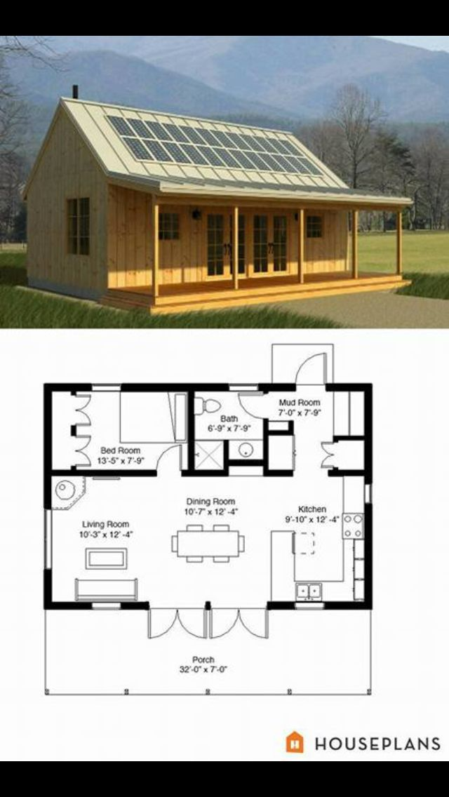Cabin Style House Plan 1 Beds