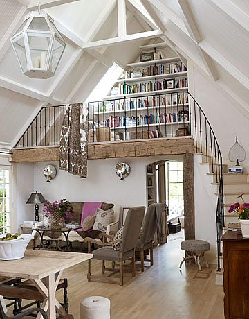 Love the loft library idea