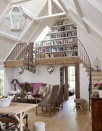 Love the loft library idea