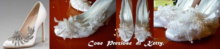 Swarovski decoration for wedding shoes